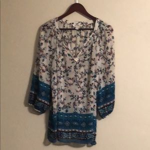 💐Old Navy floral sheer blouse XL